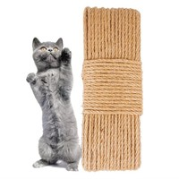 10/30/50M 6mm Pet cat toy climbing plush grinding claw sisal string Cat Furniture Pet Bed Tree Scratcher House Pet Kitten Toy