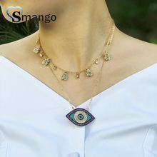 Women CZ Pendant Necklace,Fashion Jewelry, Pop Charms, The Eye Shape,Gold Colors Plated,5 Pieces,Can Wholesale