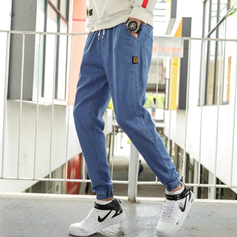 Jeans Men's Popular Brand 2019 Autumn Loose Casual Trousers Korean-style Youth Capri Pants Trend Beam Leg Harem Pants
