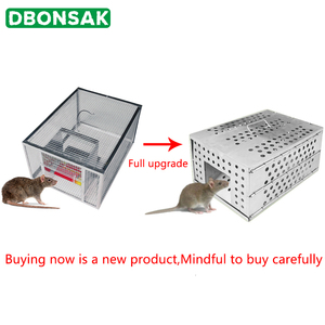 Image 3 - 家庭用大型自動連続再利用可能なキャッチマウストラップ餌スナップキャッチャーマウスマウストラップハントラットマウス齧歯類ケージ