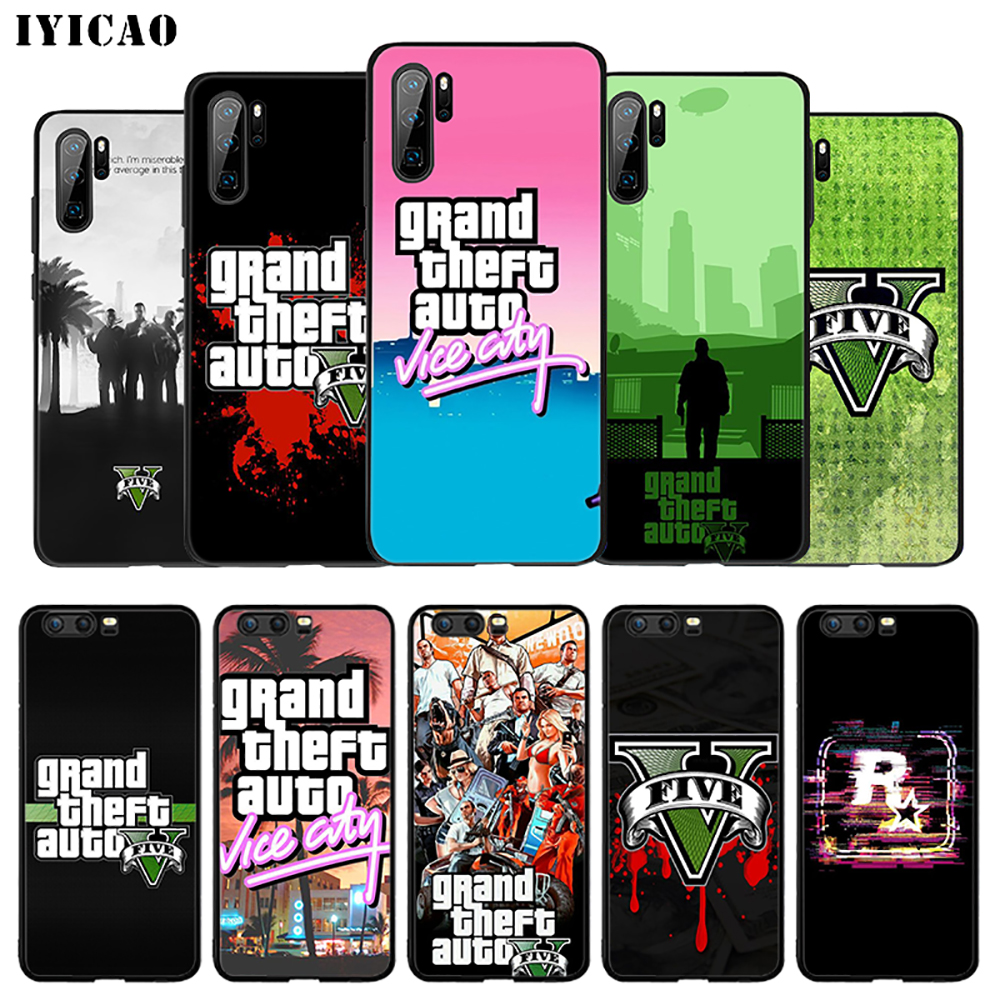 IYICAO GTA 5 Game Soft Case for Huawei P30 P20 P10 P9 P8 P Smart Z Plus 2019 Lite Pro 2018 2017 2016 TPU image