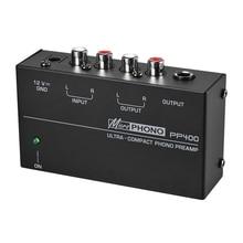 ホット3C Ultra Compactフォノrcaプリアンプ1/4インチtrsインタフェースpreamplificadorフォノプリアンプ (euプラグ)
