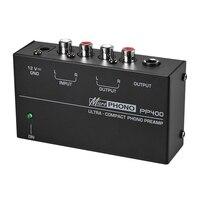 Heißer 3C-Ultra-Compact Phono Preamp Vorverstärker Mit Rca 1/4 Zoll Trs Schnittstellen Preamplificador Phono-vorverstärker (Eu-stecker)