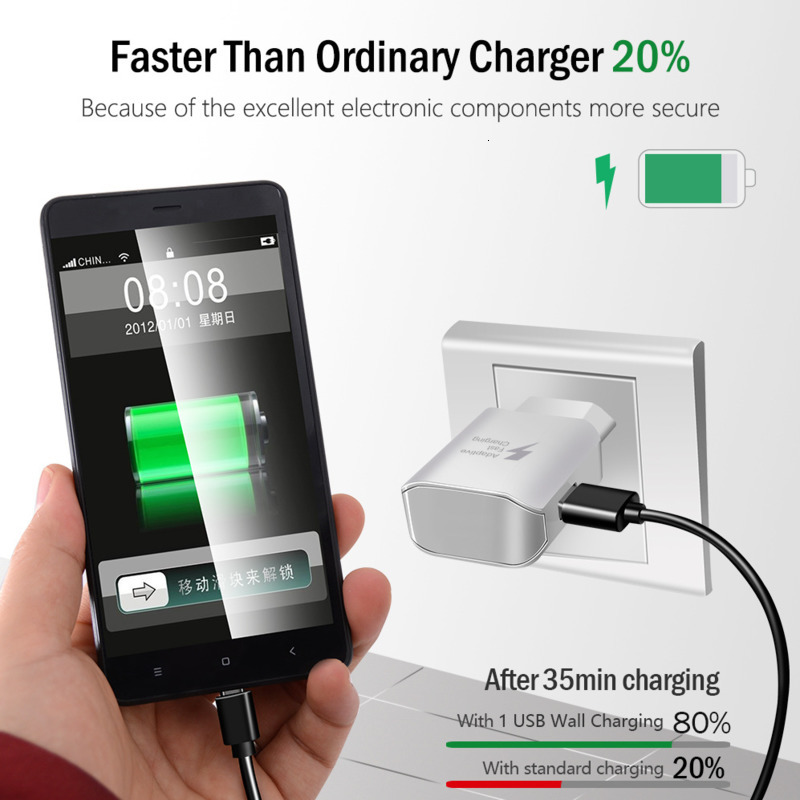 Image 3 - Fast Charge 5V 2A USB Charger Travel Charger Wall Adapter Mobile Phone Charger for Samsung Huawei Xiaomi Fast Charging-in Mobile Phone Chargers from Cellphones & Telecommunications