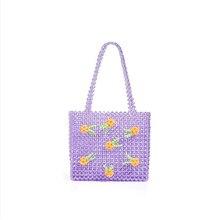Ins Popular Beaded Rainbow Handmade Bag Celebrity Pearl Bag Unique Design Colorful Female Evening Bag Wedding Female Handbag недорого