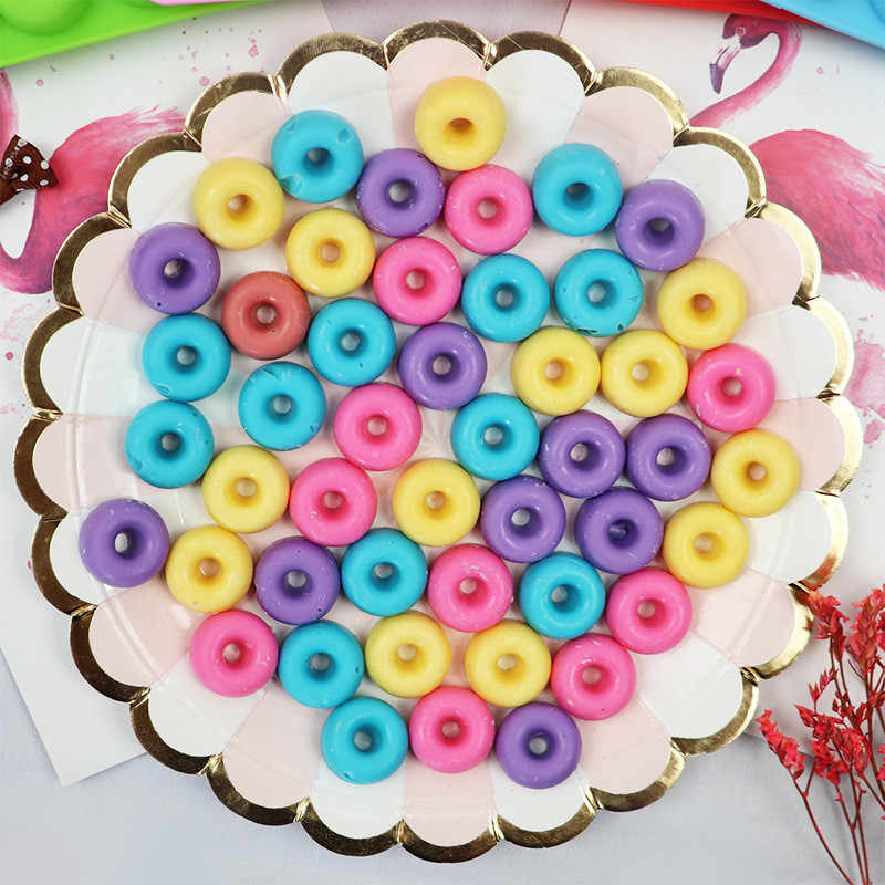 Silicone Molds with dropper Mini Donut Mold Cake Decoration Dools Chocolate Jelly Parsty Baking Cake Moulds DIY Donut Baking Pan