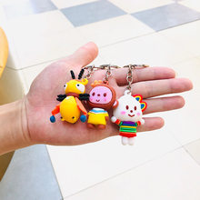 2020 Lovers Couple Keychains Monkey Pendant Car Key Chain Women Bag Charms Man Fashion Jewelry New Year Christmas Gift(China)