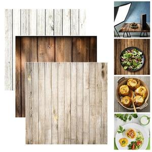 Image 2 - ALLOYSEED 60x60cm rétro planche de bois Texture photographie fond toile de fond pour Studio Photo vidéo fonds photographiques accessoires
