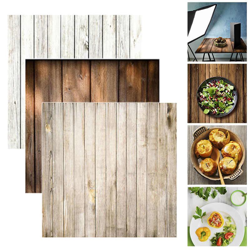 Alloygraine 60x60cm rétro bois conseil Texture photographie arrière-plan toile de fond pour Studio Photo vidéo arrière-plans photographiques accessoires