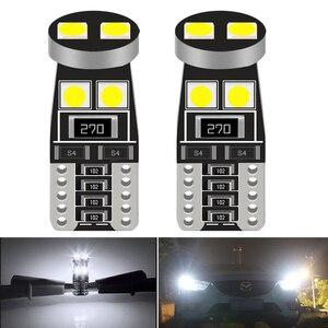 2 шт. T10 W5W светодиодные лампы Canbus 168 194 сигнальная лампа купольная лампа для чтения номерного знака светильник для салона автомобиля 12 В белый...