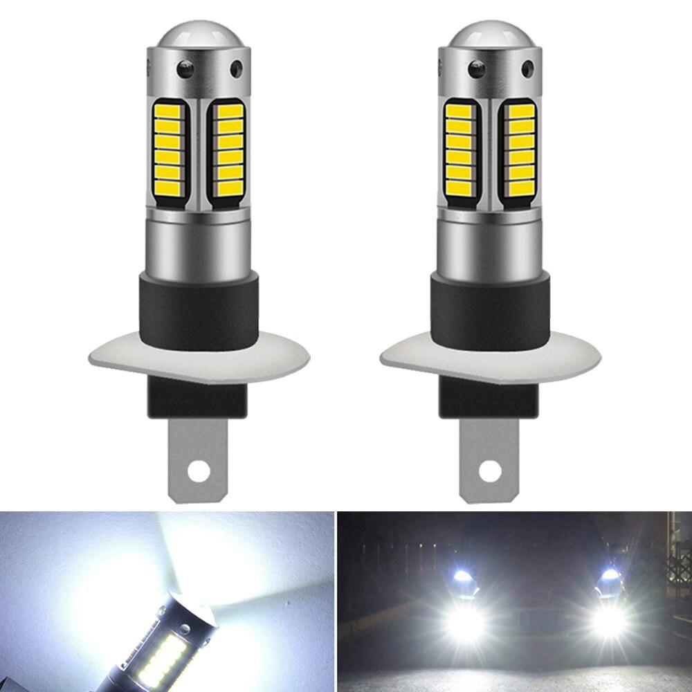 2 шт. H1 H3 светодиодный лампы супер яркие Автомобильные противотуманные фары Дневные ходовые огни 12V белый Дневные ходовые лампы для Honda Civic ...
