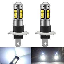 2 pçs h1 h3 led lâmpada super brilhante luzes de nevoeiro do carro 12v branco dia running lâmpada para honda civic accord crv caber jazz cidade 12v 6000k