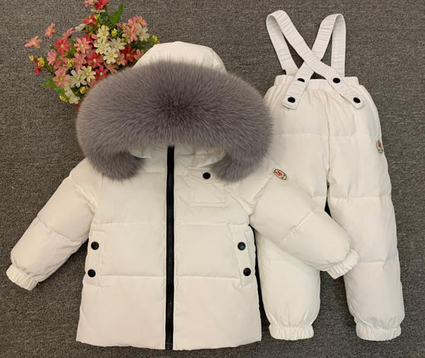 Children's winter suit kid's down 2 pieces Boys and girls wear thick ski jackets