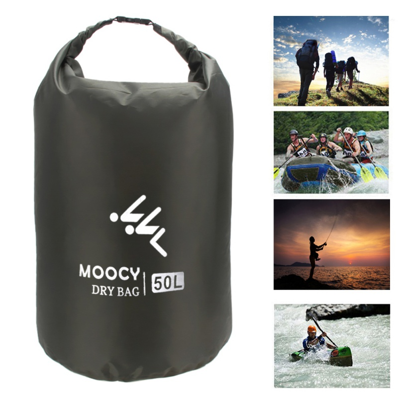 5L/20L/50L Ultralight Swimming Bag Quick Dry Outdoor Nylon Kayaking River Storage Drifting PVC Waterproof Rafting Drifting Bag