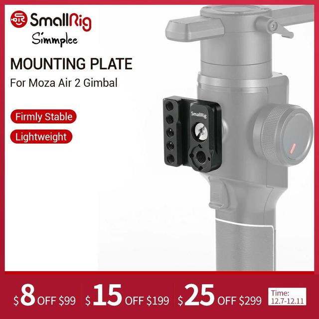 SmallRig Quick Release Mounting Plate for Moza Air 2 Gimbal Plate With Nato Rail and Arri Threaded Mounting Holes  2319