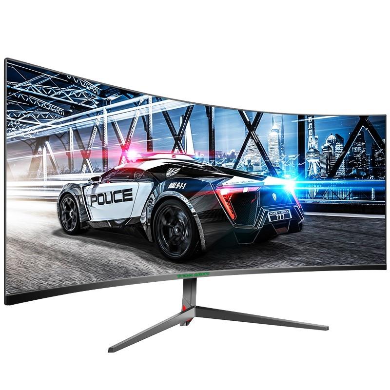 Изогнутый игровой монитор TITAN ARMY, 30 дюймов, 2K, 200 Гц, 21:9, 2560x1080, ультраширокий ультратонкий экран, FREESYNC VESA, металлический, черный