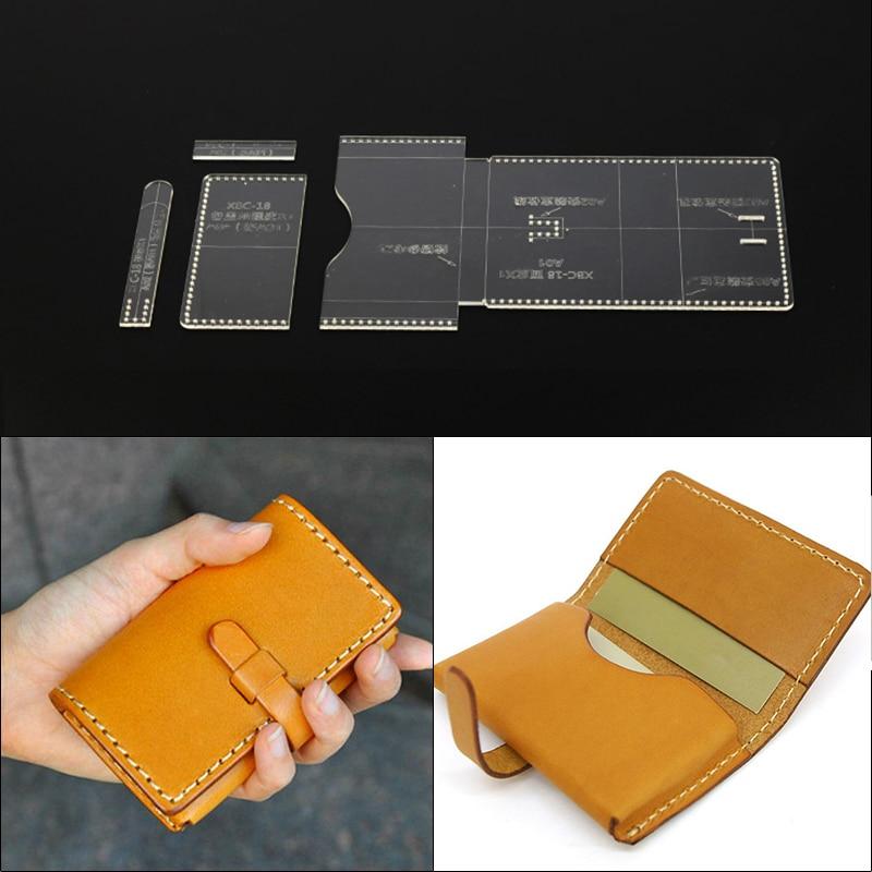 Bricolage à la main en cuir marchandises paquet de carte de visite paquet transparent acrylique modèle bricolage ensemble