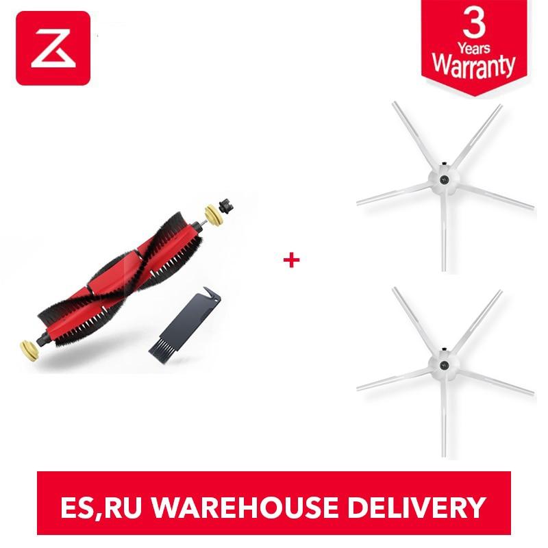 2019 Roborock S6 Original Roborock Spare Kits Cleaning Brushes: 1PC Main Brush,2 Pieces White Side Brush