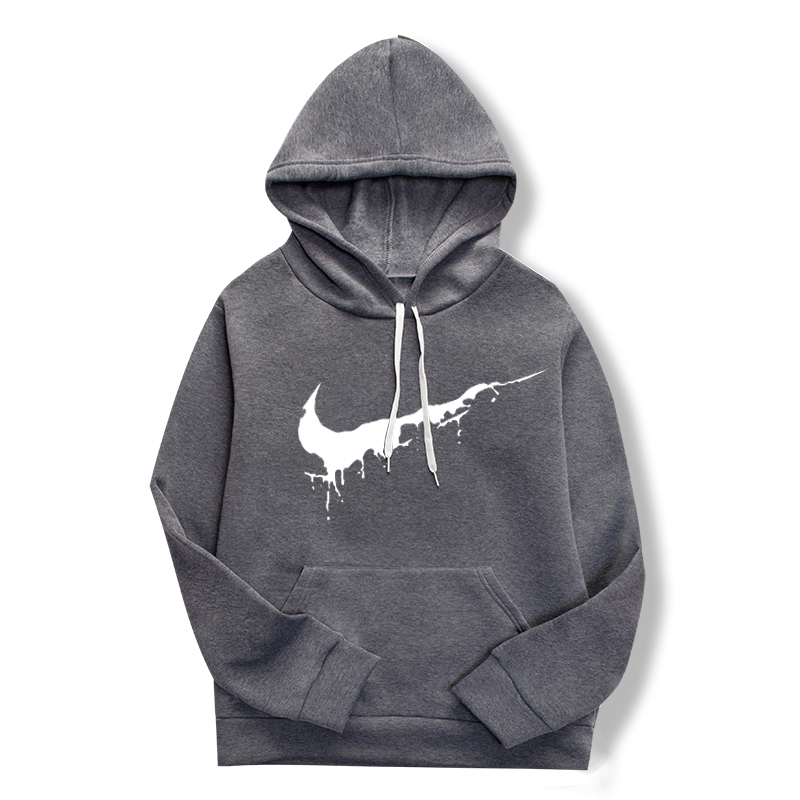 19 women's long-sleeved plain hooded sweatshirt plain multi-color men's and women's casual pullover hoodie 22