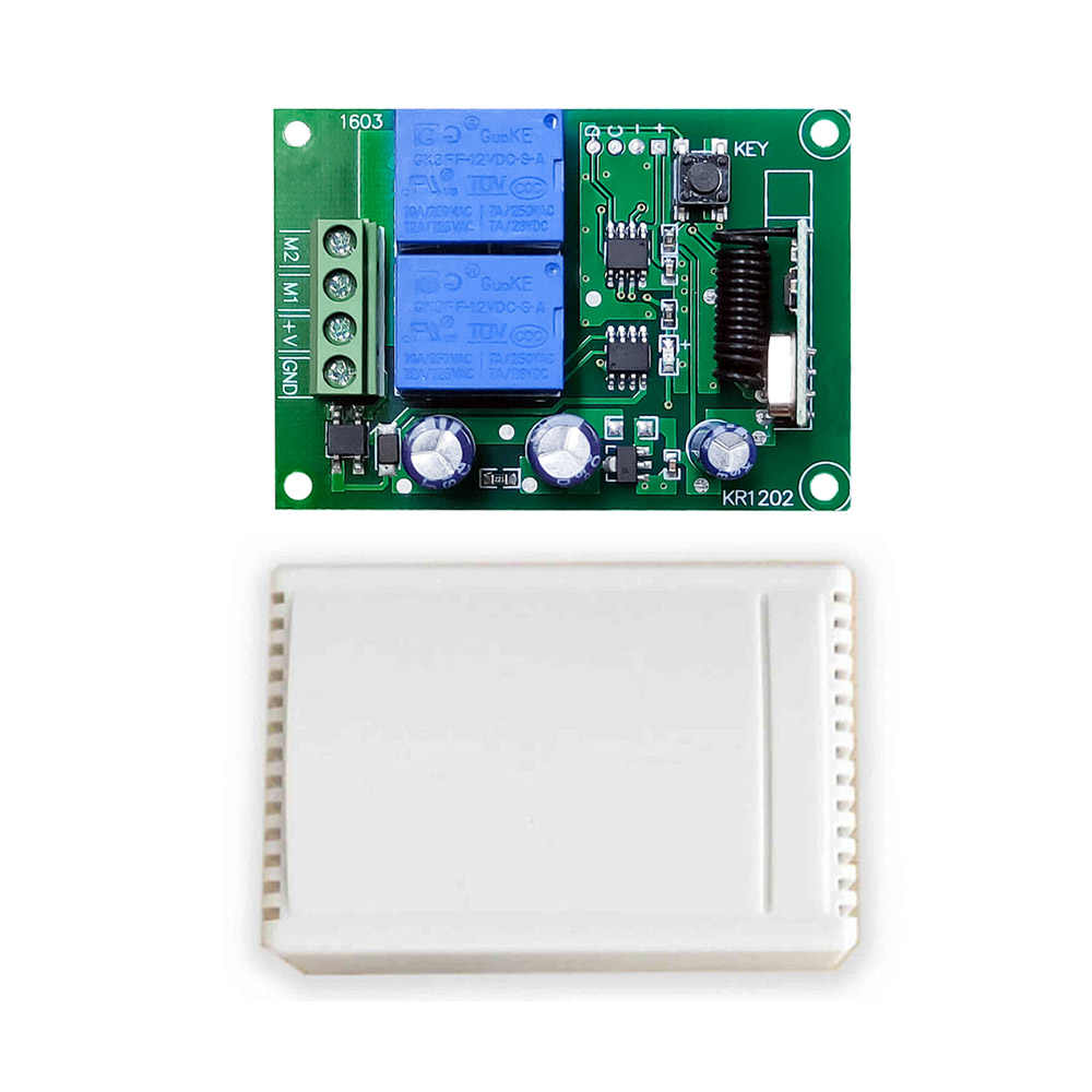 Rubrum 433 433mhz のユニバーサルリモートコントロール dc 12 v 2 ch rf リレー受信機モジュール + 433 433mhz のワイヤレスリモート制御スイッチガレージゲート