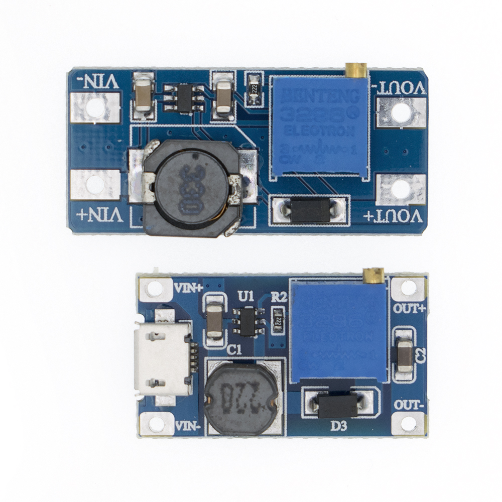 1PC MT3608 DC-DC Adjustable Boost Module 2A Boost Plate Step Up Module With/without MICRO USB 2V-24V To 5V 9V 12V 28V