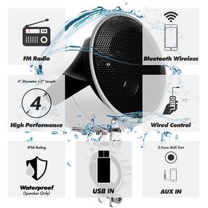 Image 2 - Aileap 150W Conjunto com 2ch Stereo Amplificador de Áudio Da Motocicleta, 4 Polegadas Falante À Prova D Água, Entrada USB, bluetooth, Rádio FM, AUX MP3