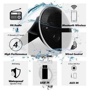 Image 2 - Aileap ensemble Audio pour moto, 150W, avec amplificateur stéréo 2ch, haut parleur 4 pouces, étanche, entrée USB, Bluetooth, Radio FM, AUX et MP3