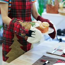 Хоббилан 1 шт. рождественские Пледы для выпечки анти-горячие перчатки для духовки обеденный барбекю Кухня рождественские вечерние принадлежности