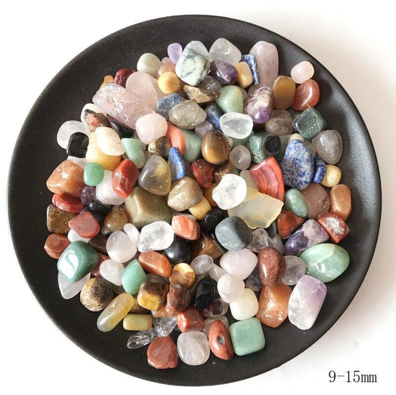 100g 4 Sizes Natural Mixed Quartz Crystal Stone Rock Gravel Specimen Tank Decor Natural stones and minerals