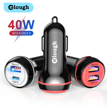 Elough 30 ワット急速充電 4.0 3.0 PD 急速充電器 iphone サムスン Xiaomi Huawei 社の携帯電話ミニ Daul USB タイプ C 車の充電器