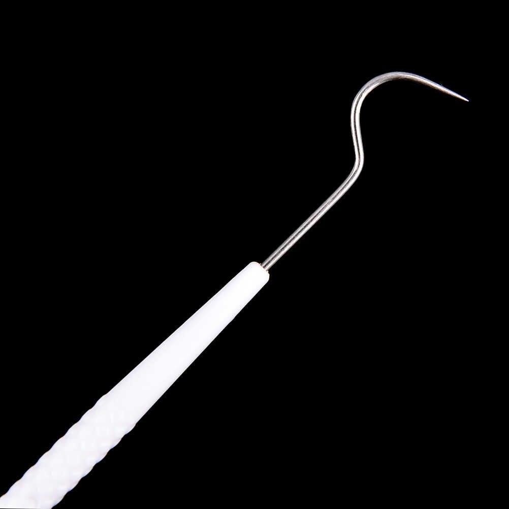 10 Tính Một Thời Gian Tạm Thời Thép Không Gỉ Móc Khóa Đôi Đầu Dò Chất Liệu Nha Sĩ Bộ Dụng Cụ Răng Nha Khoa Nhà Thám Hiểm Dentalist