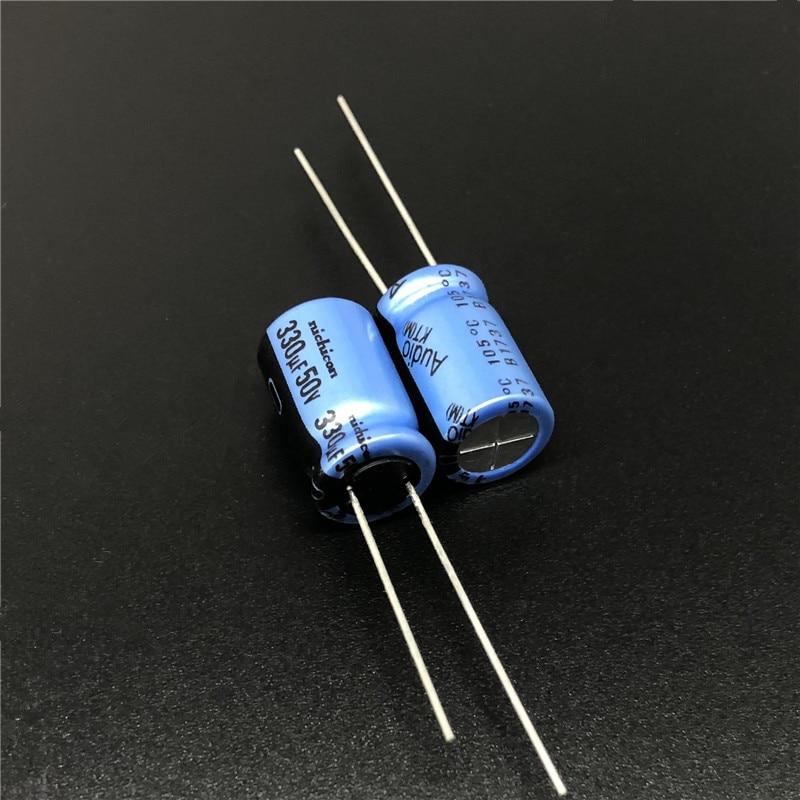 5pcs 330uF 50V NICHICON KT Series 10x16mm 50V330uF Audio Aluminum Electrolytic Capacitor