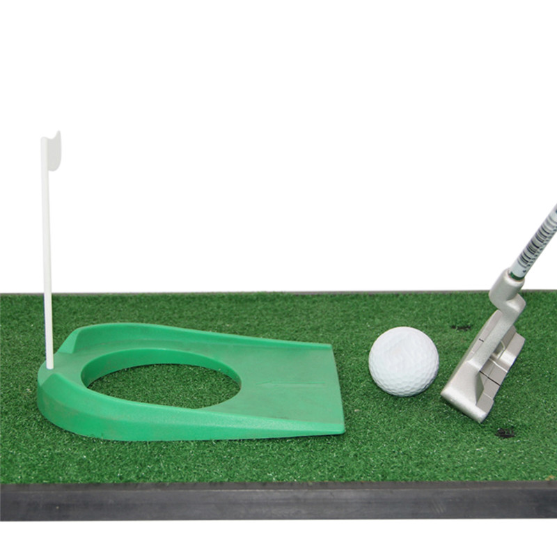 Купить с кэшбэком Putting Green Golf Rules Cup Hole With Flag Garden Outdoor Trainer Practice AIDS Home Training