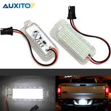 2 х Автомобильный светодиодный светильник для номерного знака без ошибок 3528 SMD лампа для Ford Focus Fiesta Mondeo Grand C-Max S-Max Kuga Galaxy MK2 MK3