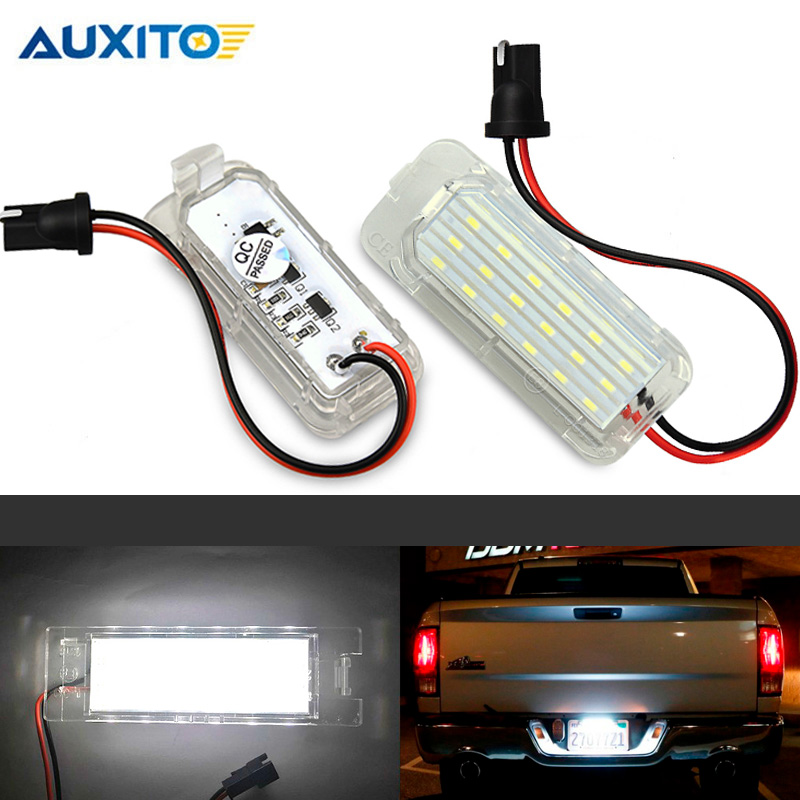 2 x Car <font><b>LED</b></font> License Plate Light Error Free 3528 SMD Lamp Bulb For <font><b>Ford</b></font> <font><b>Focus</b></font> Fiesta Mondeo Grand C-Max S-Max Kuga Galaxy MK2 <font><b>MK3</b></font> image