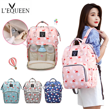 LEQUEEN Nappy Backpack Bag Mummy Large Capacity Bag Mom Baby Multi-function Waterproof Outdoor Travel Diaper Bags For Baby Care multi function large capacity waterproof travel mummy maternity nappy baby bag travel backpack mom baby diaper nursing bags