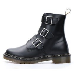 Martens Boots Women Shoes 2020 New Black Leather Ankle Boots Women Punk Shoes Thick Bottom Motorcycle Boots Dr Mujer