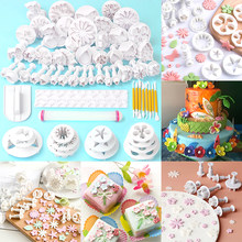 68pcs/set Fondant Cake Decorating Molds Cookie Cutters Mould Butterfly Heart Flower Shape Biscuit Embossing Baking Tools