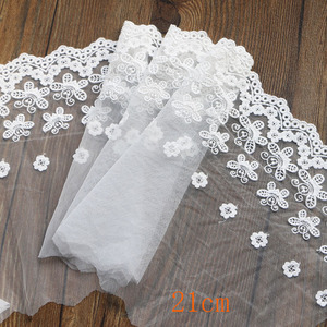 1yard White Lace Ribbon Handmade Lace Trim Patchwork Material DIY Garment Sewing Accessories