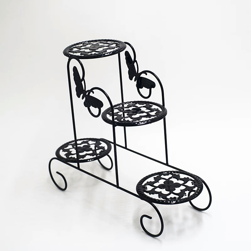 Wrought Iron Office Desktop Fleshy Mini Flower Multifunctional Shelf Window To Receive The Balcony Flowerpot