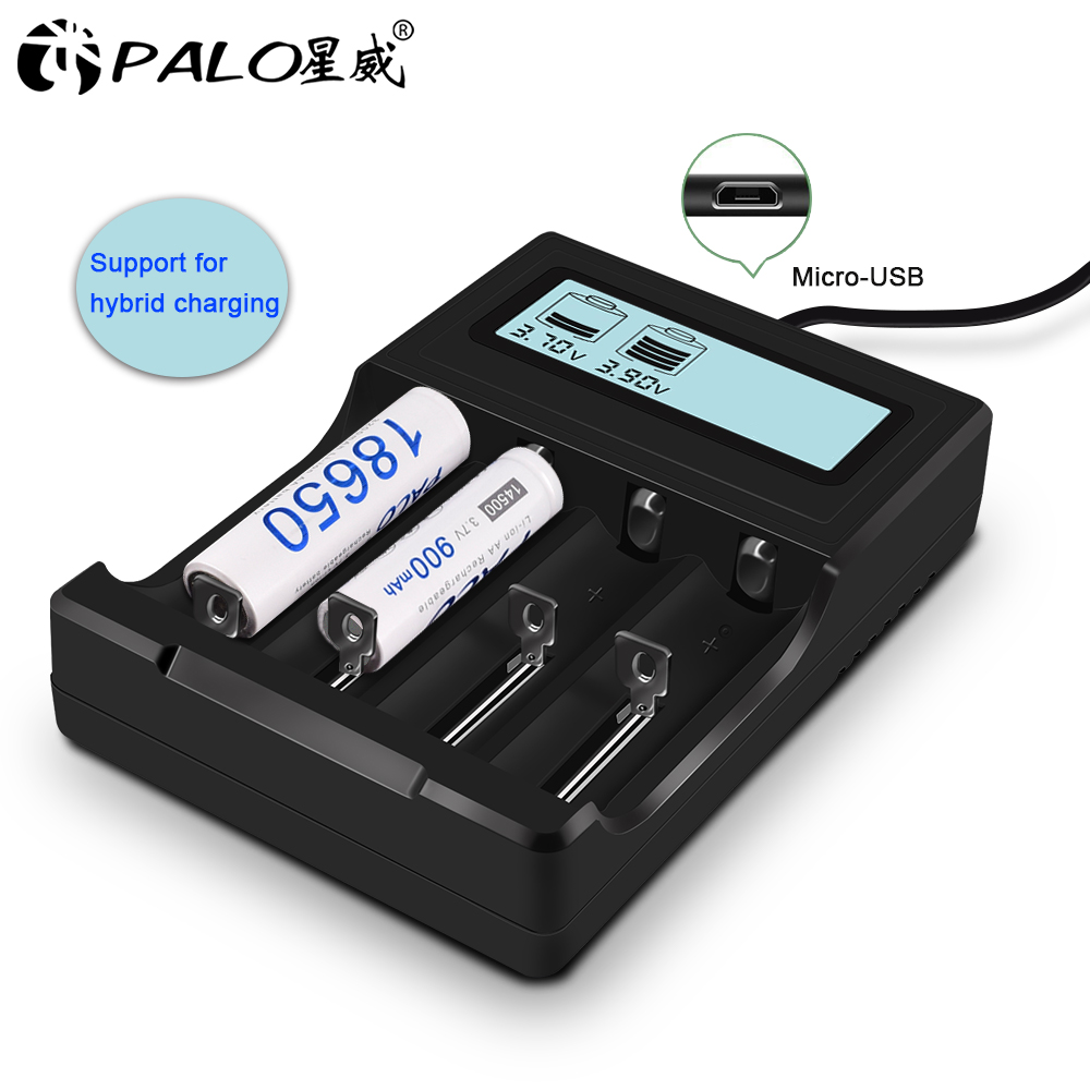 PALO 18650 26650 16340 <font><b>14500</b></font> 10440 18500 Battery <font><b>Charger</b></font> USB Charging for 18650 li-lion 3.7V battery <font><b>charger</b></font> image