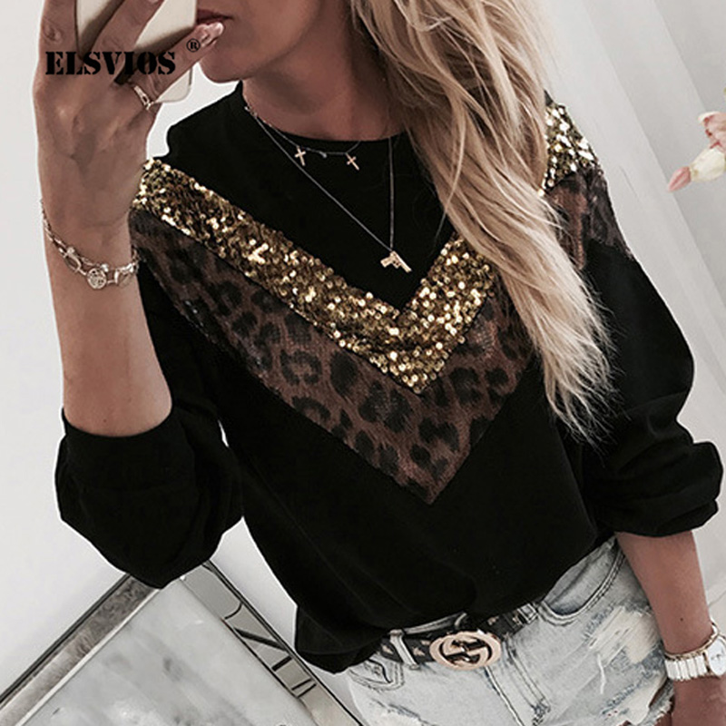 Fashionable Beading Lips Print Sweatshirt Women O-neck Kawaii Sweatshirt Hoodies Autumn Long Sleeve Ladies Sequin Sweatshirts