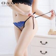 CHAOZHU – ceinture en dentelle pour femmes, taille libre, ajustable, Sexy, String G, fleur brodée, cristal Transparent, sous-vêtements pour dames
