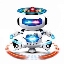 ГОРЯЧИЕ 360 Пространство Вращение Умный Танец Астронавт Робот Музыка LED Свет Электроника Ходьба Веселые Игрушки Дети День рождения Подарок для Детей