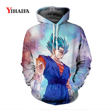 Newest Mens Womens 3D Sweatshirt Nebula Dragon Ball Z Anime Hoodies Goku Graphic Print Sportswear Cosplay Pullover Tops