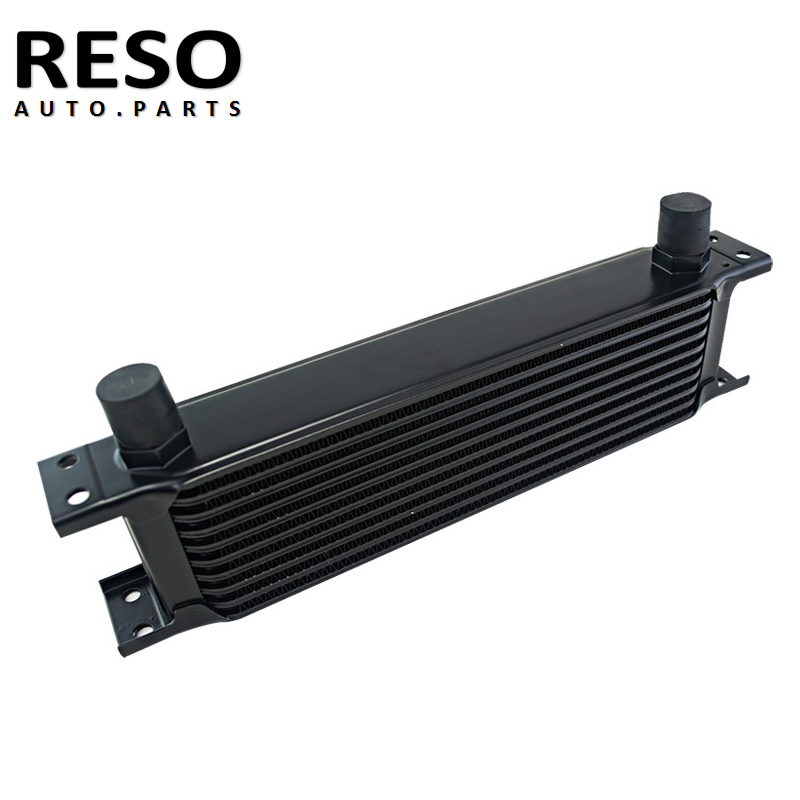 Öl Kühler Universal Aluminium 10 Reihen Motor Übertragung AN10 Öl Kühler 10AN Schwarz