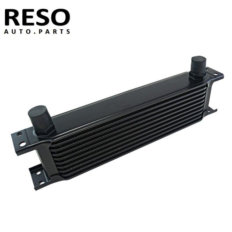 Oil Cooler Universal Aluminum 10 Rows Engine Transmission AN10 Oil Cooler 10AN Black