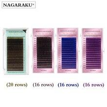 NAGARAKU – Faux Cils, mélange de maquillage, couleurs marron foncé, marron clair, bleu, violet, 7 à 15mm