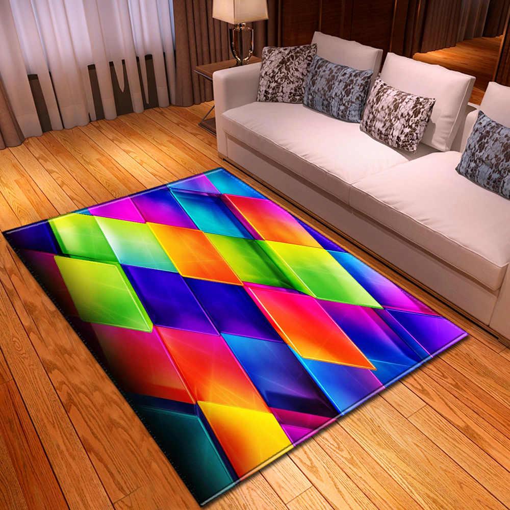 tapis nordique a motif geometrique 3d