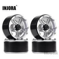 "INJORA 4PCS 171g/pcs Heavy RC Rock Crawler Metal 1.9"" BEADLOCK Wheel Rim for 1/10 Axial SCX10 90046 90047 D90 6"